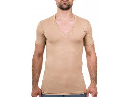 Neviditelné tričko s hlubokým výstřihem