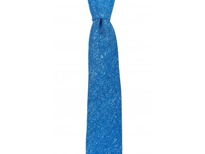 Zářivě modrá twin kravata žíhaná