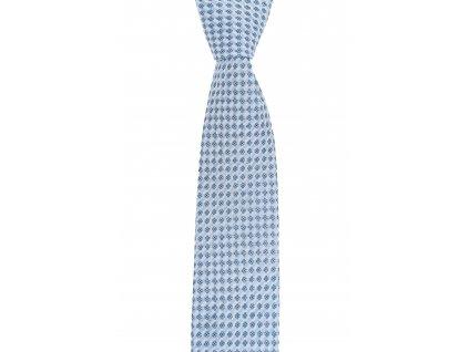 Světle modrá twin kravata se vzorem
