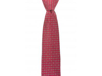 Červená twin kravata se vzorem