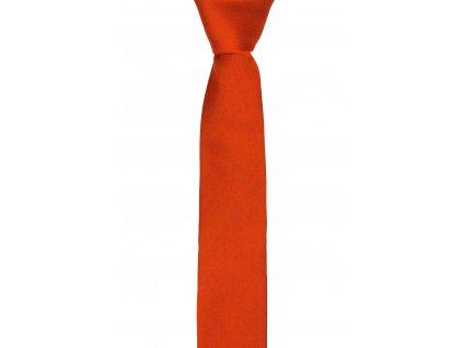 Oranžová kravata s šikmou linií