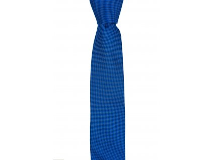 Modrá kravata s decentním vzorem