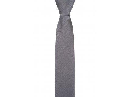 Šedá kravata se strukturou