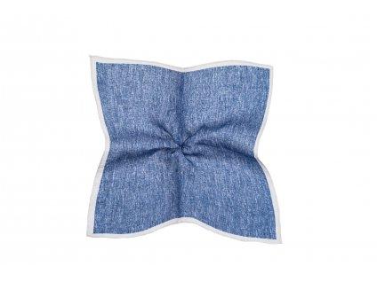 Světle modrý kapesníček s bílým okrajem