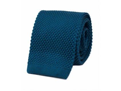 Modrá pletená kravata