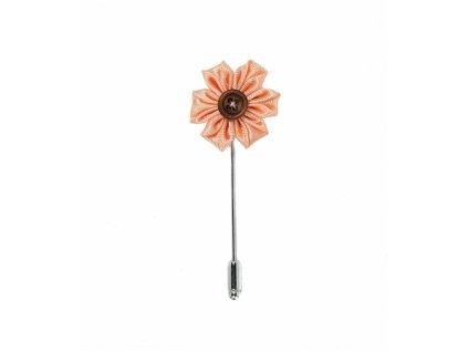 12017 Broskvová satéhová květina do klopy