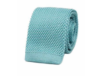 73006 Tyrkysová pletená kravata