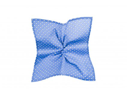 Modrý kapesníček se světle šedými puntíky