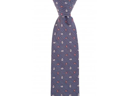 Vínovo-béžová twin kravata s paisley vzorem