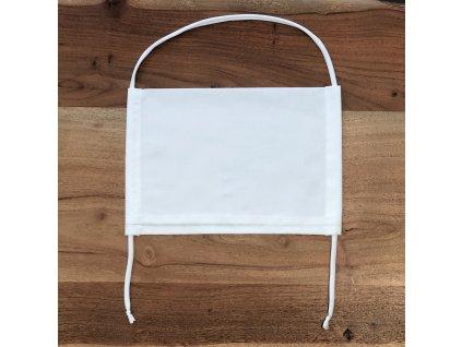 Bavlněná dvouvrstvá rouška s kapsou na filtr BÍLÁ EDEN