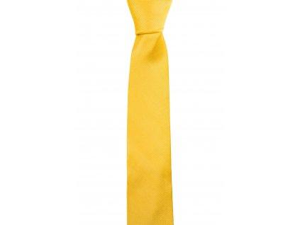 Žlutá kravata s šikmou linií