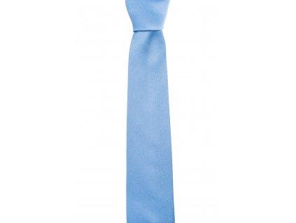 Světle modrá kravata s šikmou linií