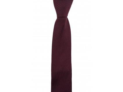 Vínová twin kravata s drobným vzorem