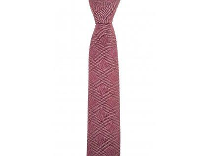 Vínová twin kravata s kárem