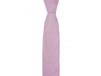 Twin kravata s červeno-modrým vzorem