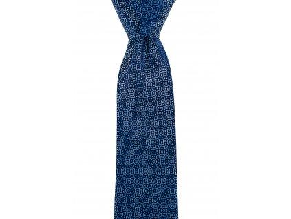 Modrá vzorovaná kravata