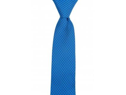 Modrá twin kravata s jemným vzorem