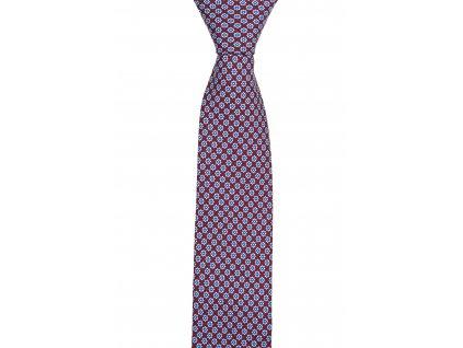 Vínová kravata s kvítky