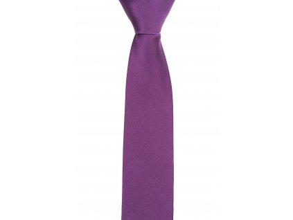 Fialová kravata s šikmou linií