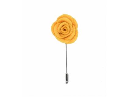 Žlutá květina do klopy