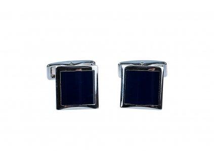 Čtvercové manžetové knoflíčky s modrým vnitřkem