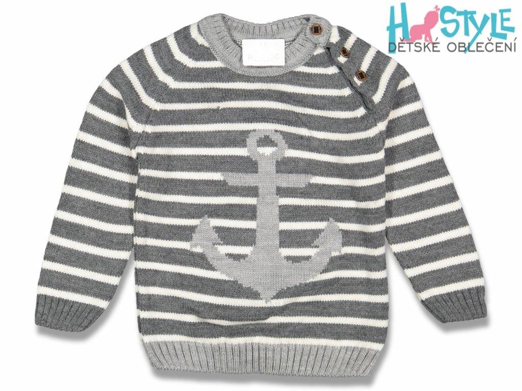 chlapecky svetr sedy 95026