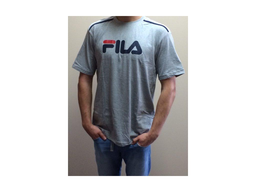 e6d00d3e1 Fila Pánske tričko s krátkym rukávom - sivé  Dress Shop
