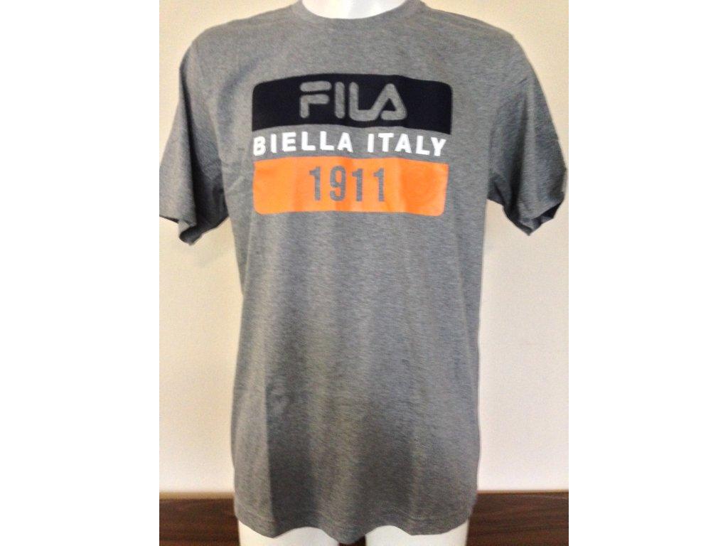 47b172d61375 Pánske tričko Fila s potlačou - sivé