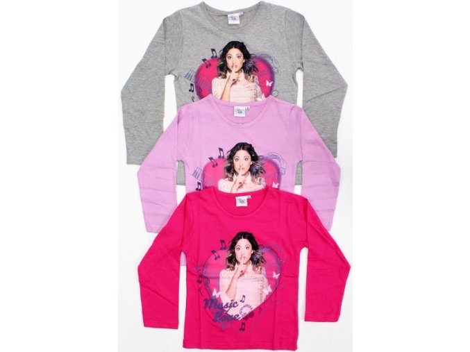 tričká Violetta rôzne farby cyklamenová, sivá, fialová