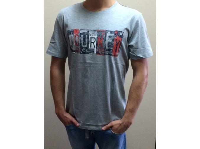 Pánske tričko Spirit s potlačou - sivé