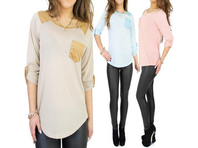 tunika bluzka rôzne farby