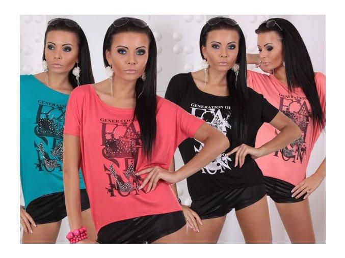tričko rôzne farby predný dizajn
