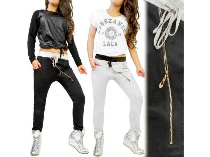 BAGGY PANTS biele čierne