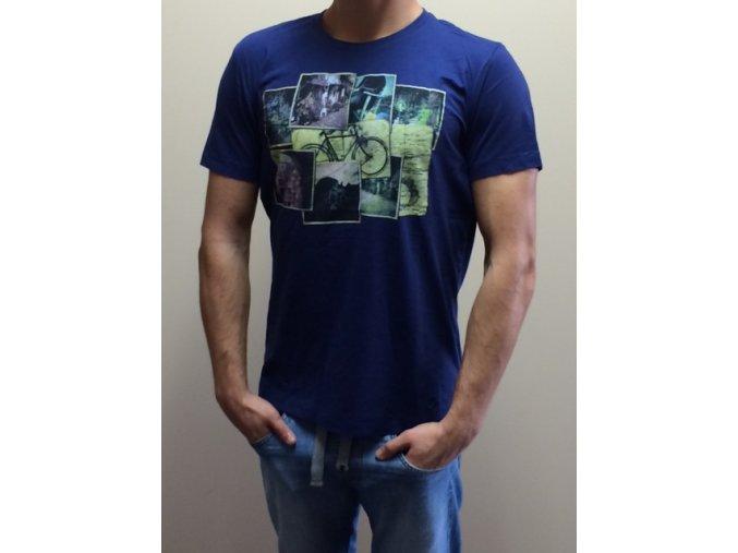s.Oliver Pánske tričko - modré