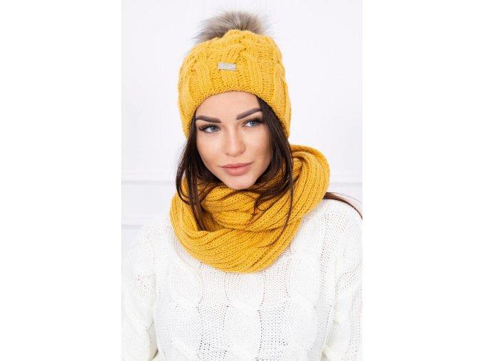 Dámska súprava čiapka a šál
