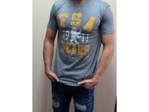Pánske tričko Fila Bear s potlačou - sivé