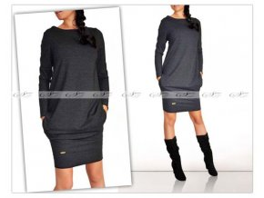 šaty sive tmave