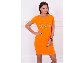 slo pl Saty s vreckami Vogue oranzovy neon 14750 3