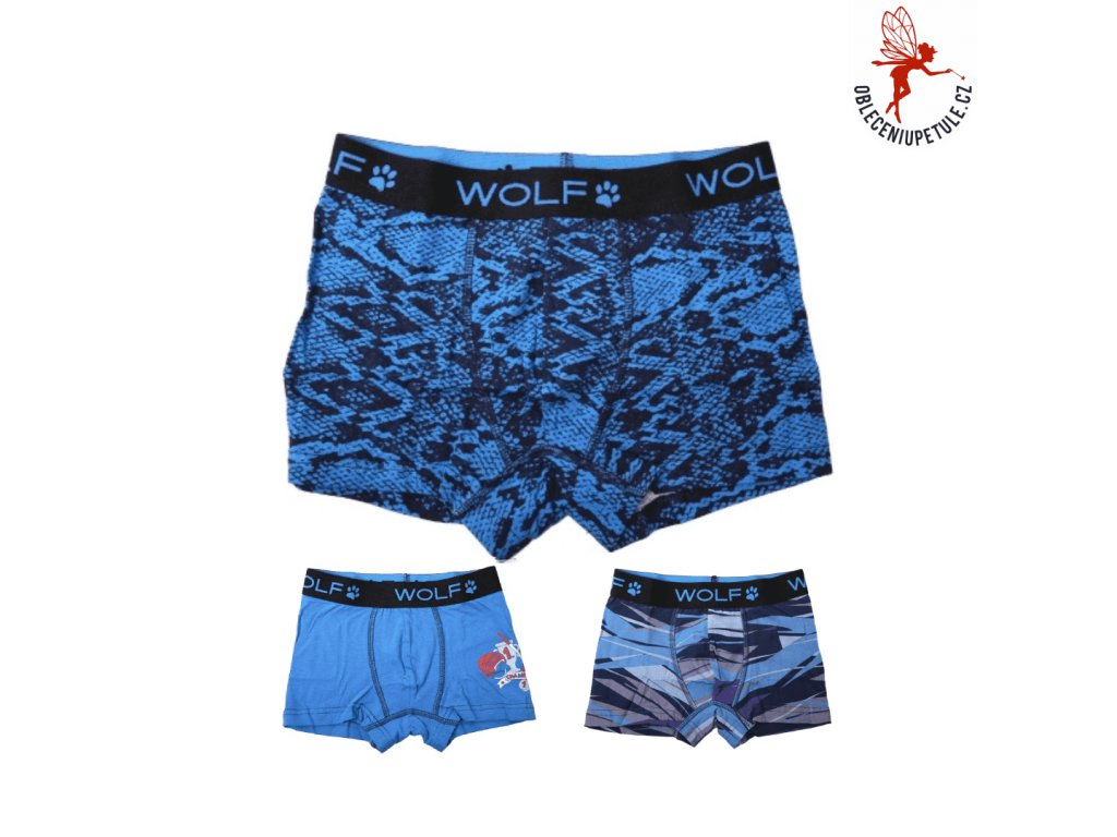 CHLAPECKÉ TRENKY WOLF BALENÍ 3KS velikost 134/164 - 158/164