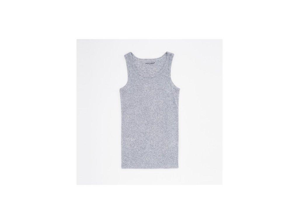 WOLF pánský bavlněný nátělník světle šedý S2675