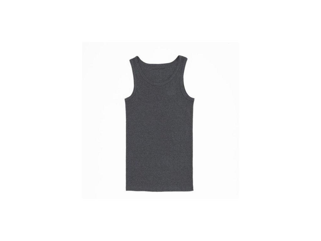 WOLF pánský bavlněný nátělník tmavě šedý S2675