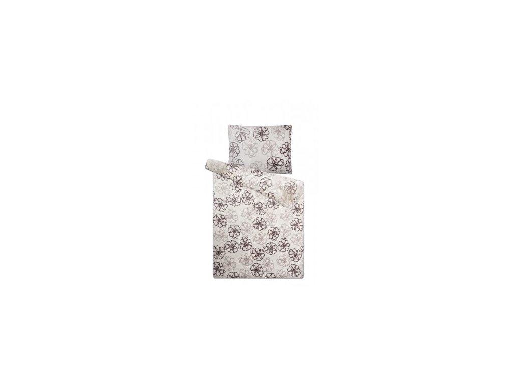 Povlečení mikroflanel SLEEP WELL - květiny šedé