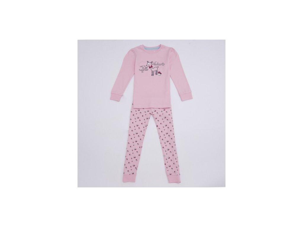 WOLF dívčí teplejší pyžamo 104-134 růžové S2764