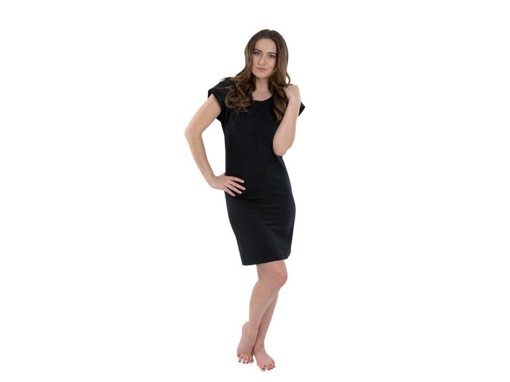 Dámské černé krátké šaty