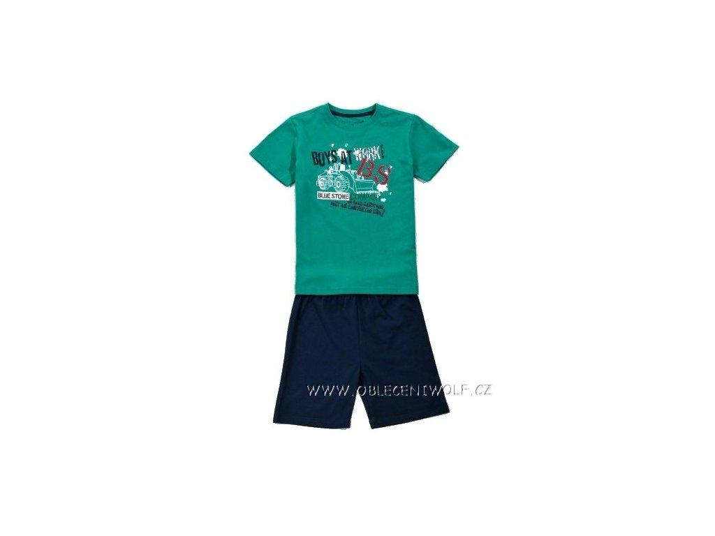 WOLF chlapecké krátké pyžamo zelené 98-128