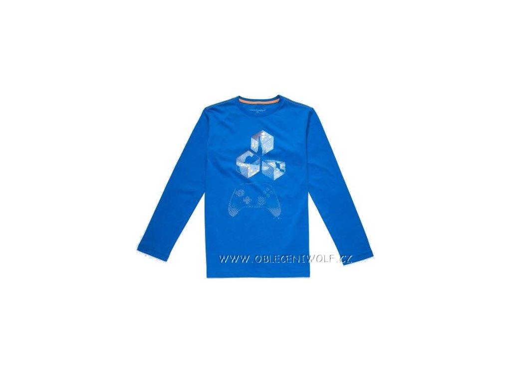 Chlapecké tričko dlouhý rukáv 134-164 modré S2833