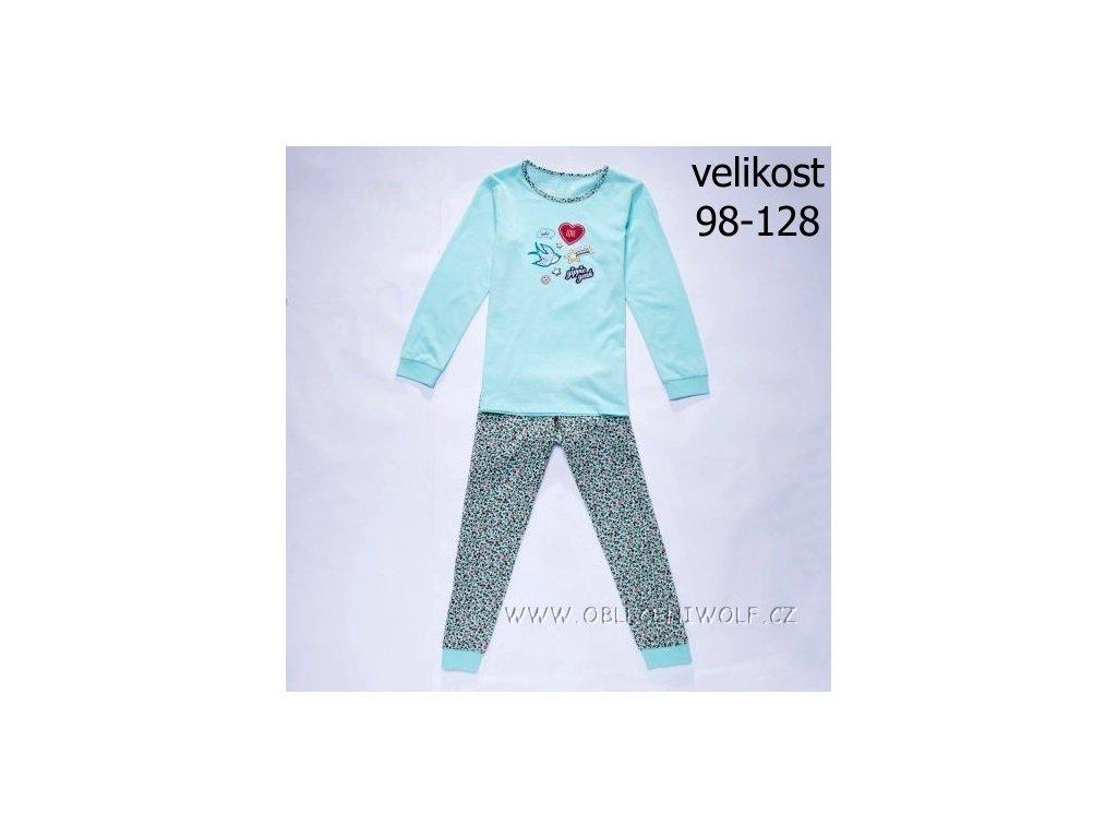 WOLF dívčí pyžamo zelenkavé S2852 vel. 98-128