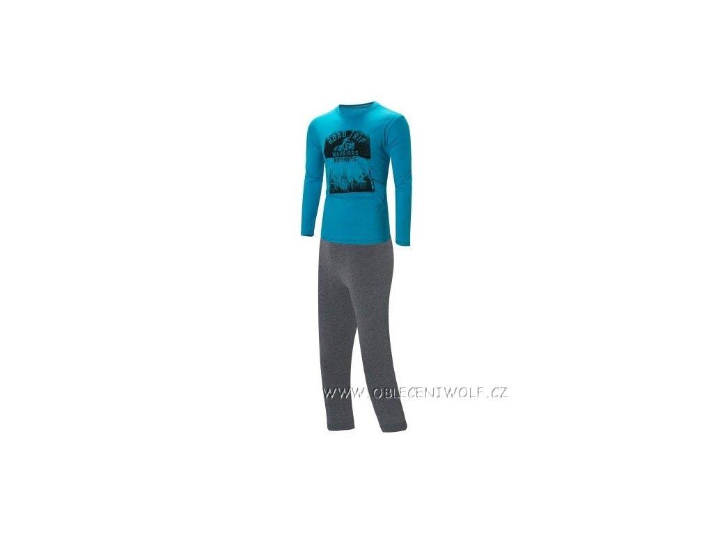 WOLF chlapecké pyžamo 140-170 tyrkysové S2856B