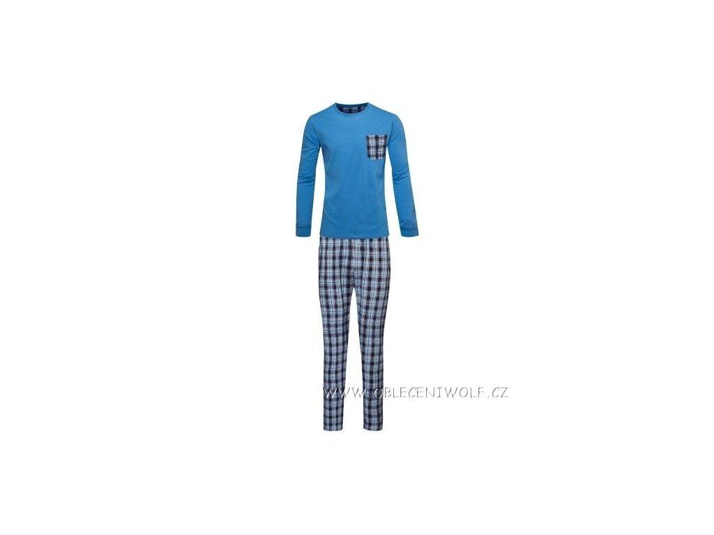 WOLF Pánské pyžamo modré S2877B
