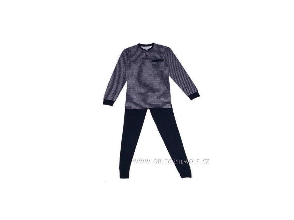 WOLF Pánské pyžamo modré s bordó S2877